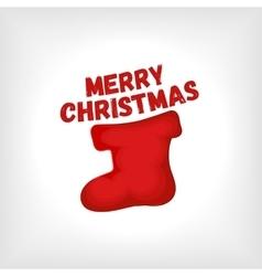 Christmas red sock vector