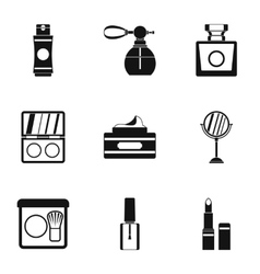 Beauty icons set simple style vector