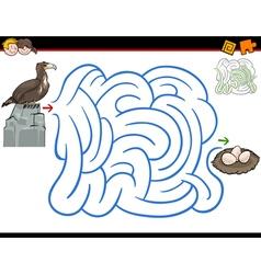 Maze activity with eagle vector