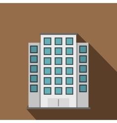 Skyscraper icon flat style vector