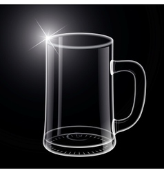Empty beer glass vector