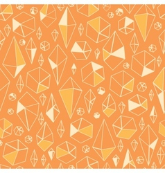Abstract geometric chrystals seamless pattern vector