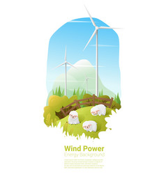 Energy concept background with wind turbine 11 vector