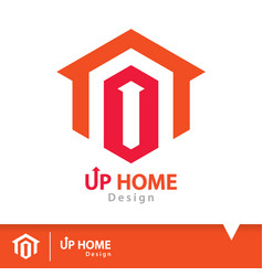Up home icon symbol vector