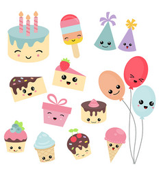 Happy birthday icons set happy birthday icons set vector