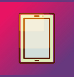 Tablet pad icon on gradient backdrop vector