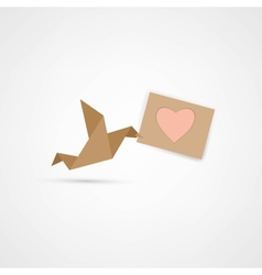 Bird love letr vector