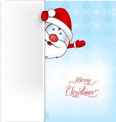 santa claus cartoon on background vector image
