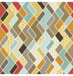 Geometric patchwork pattern vector
