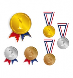 Award medals ribbons vector