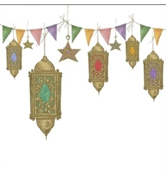 Ramadan kareem hand drawn vector