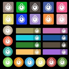 The stopwatch icon sign Set from twenty seven vector image