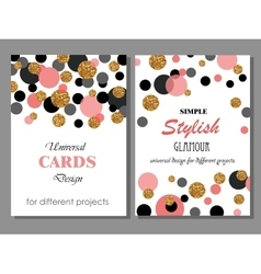 Collection of universal modern stylish cards vector