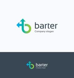 Barter b letter logo vector