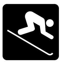 Downhill skiing sign vector