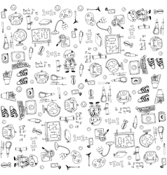 art doodle of element education vector image vector image