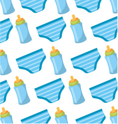 baby shower bottle and shorts panties seamless vector image