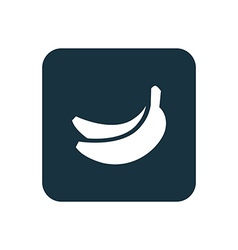 Banana icon rounded squares button vector