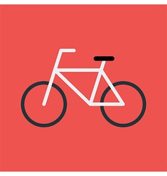 Bicycle flat stylized sign vector image