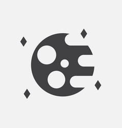 Black icon on white background planet and elements vector