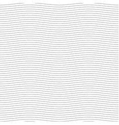 black seamless wavy line pattern vector image