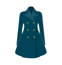 blue female restrained coat buttoned women s vector image vector image