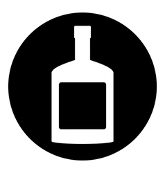 Bottles of cognac button vector image