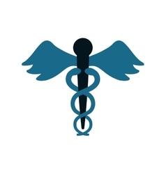 caduceus medicine symbol icon vector image