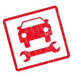 Car Repair Icon Rubber Stamp vector image
