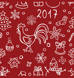 christmas and new y pattern vector image