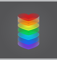 column of hearts vector image vector image