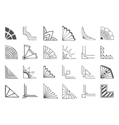 Corners elements vector