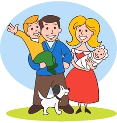 Cute Cartoon Family vector image