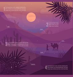 Desert landscape vector