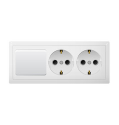 Electrical socket type f with switch receptacle vector
