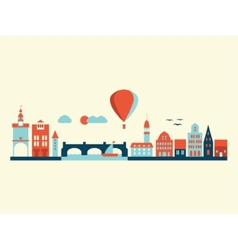 Europe city landscape vector image