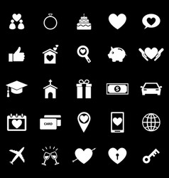 Family icons on black background vector