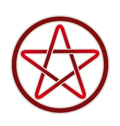 Five point pentagram icon vector image