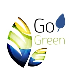 Go green leaf nature concept vector