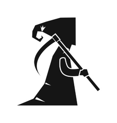 Grim reaper icon simple style vector