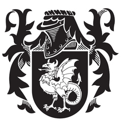 Heraldic silhouette no10 vector