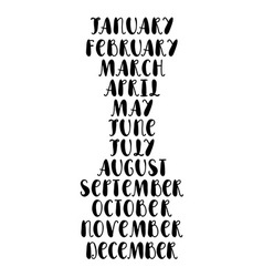 Names of months vector