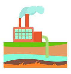 Processing plant icon cartoon style vector