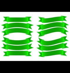 Ribbon Banner Green vector image vector image