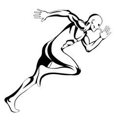Running man vector
