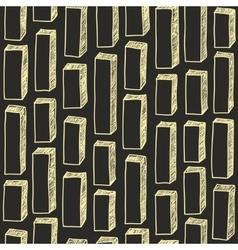 Seamless pattern of hand drawn bricks vector image