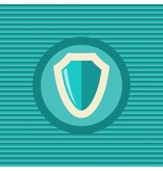 Shield flat icon vector image vector image