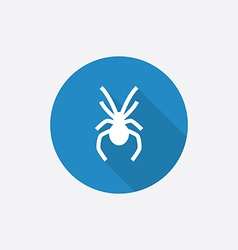 spider Flat Blue Simple Icon with long shadow vector image vector image