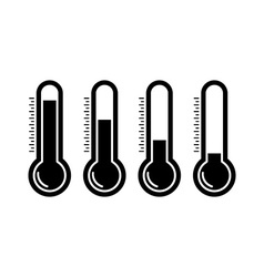 Thermometr icons vector image vector image