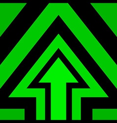 Up Arrow Background Green vector image